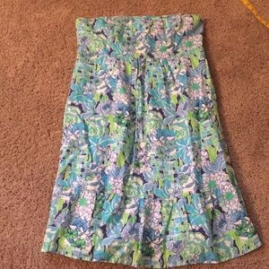 Lilly Pulitzer Size 8 strapless linen dress